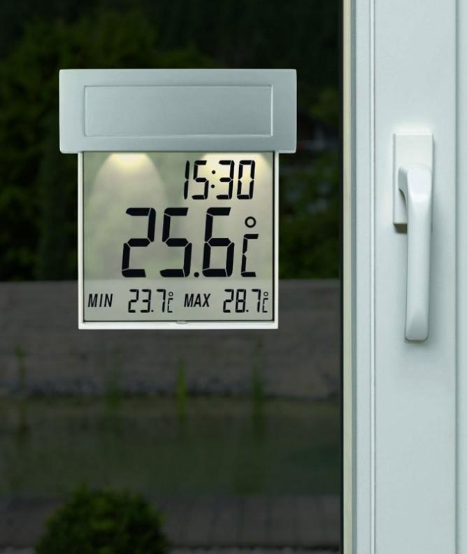 Цифровой оконный градусник