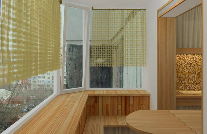 Совмещенный балкон с комнатой