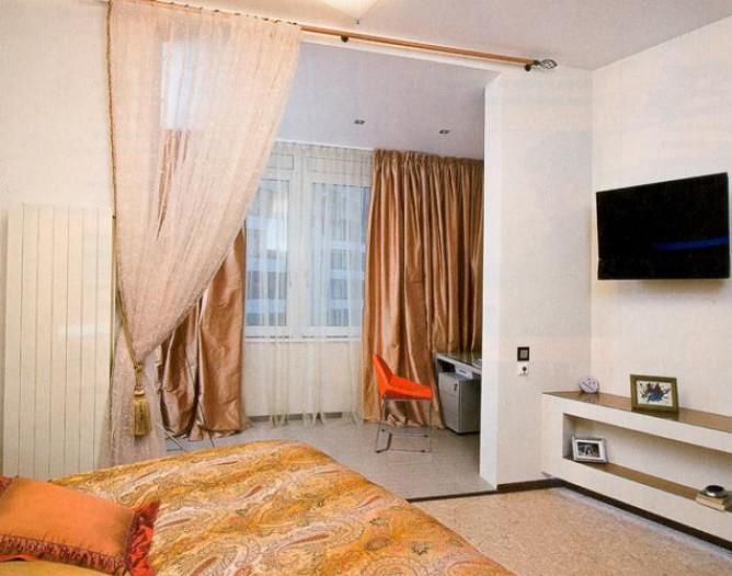 Вариант совмещения балкона и комнаты