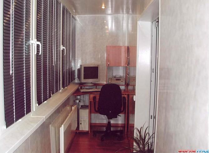 Дизайн застекленного балкона