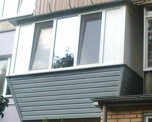 Балкон с наклонным выносом
