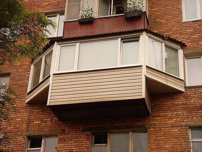 Вариант выноса балкона