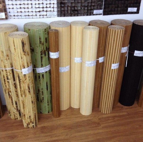 Рулоны бамбукового полотна