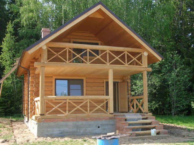 Балкон в деревянном доме