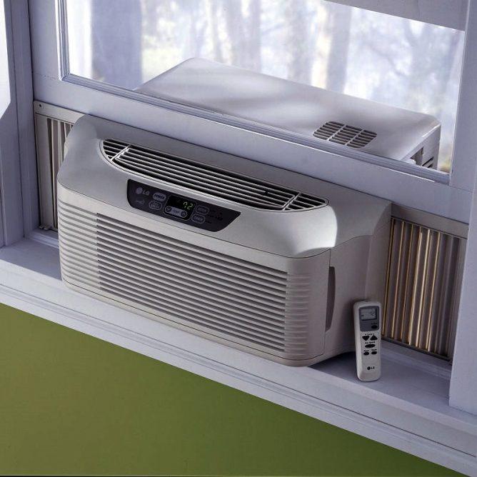 Как установить оконный кондиционер в пластиковое окно