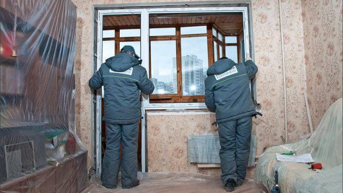Установка нового балконного блока ПВХ