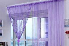 Фиолетовые нитяные шторы