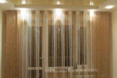 Бежевые шторы-нити