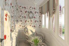 Комната отдыха на балконе в нежных тонах