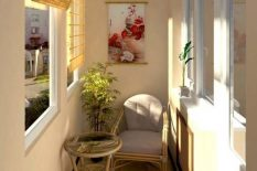 Дизайн комнаты отдыха на балконе