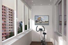 Велотренажер на балконе