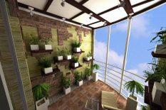 Зимний сад на балконе в высотке
