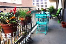 Простая мебель для балкона